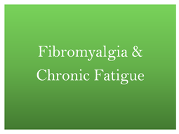 fibromyalgia treatment, chronic fatigue treatment