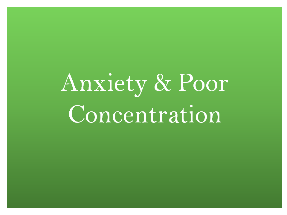 nutritional support for anxiety and concentration